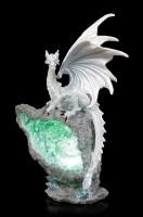 Drachen Figur LED - Albidus Custodian