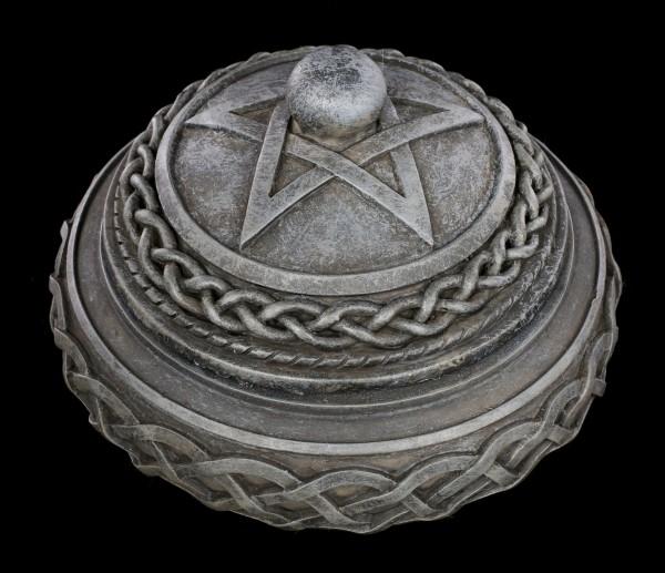 Keltische Schatulle - Rund mit Pentagramm