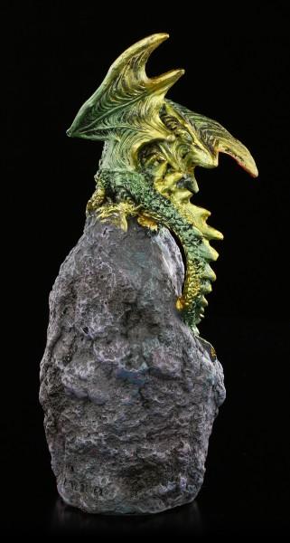 Drachen Figur mit LED - Emerald Crystal Guard