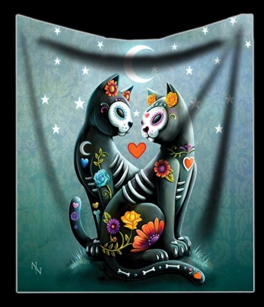 Kuscheldecke mit Katzen - Starry Night