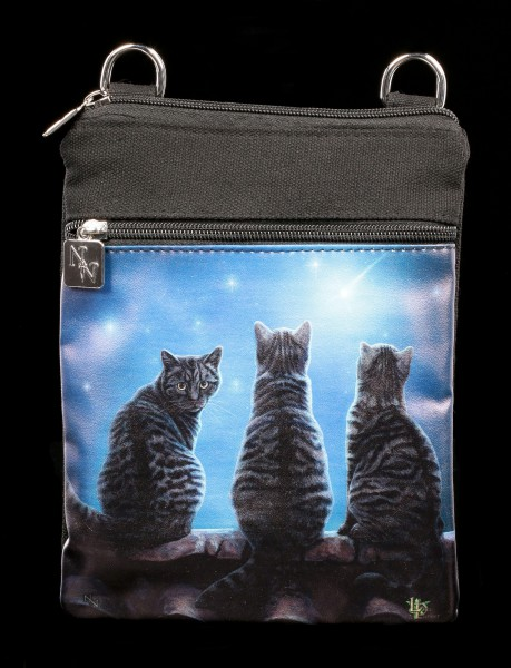 Small Shoulder Bag with Cats - Wish Upon a Star