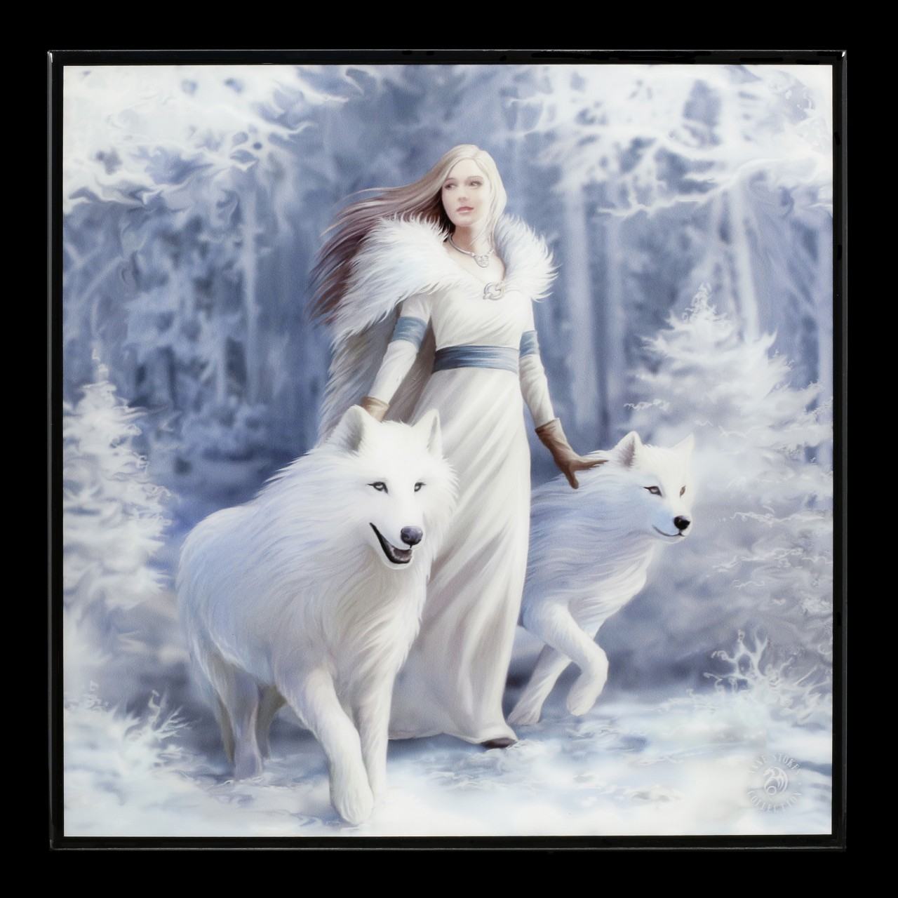 Small Crystal Clear Picture with Wolves - Winter Guardians