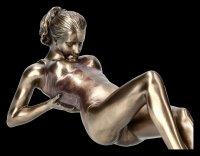 Female Yoga Figurine - Salamba Sarvangasana Position