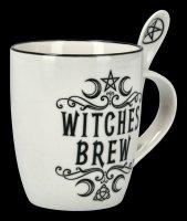Tasse mit Löffel - Witches Brew