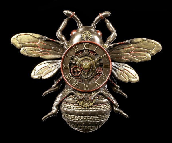 Steampunk Wall Clock - Bee