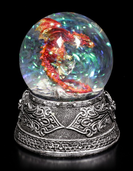 Snow Globe with Dragon - Enchanted Ruby