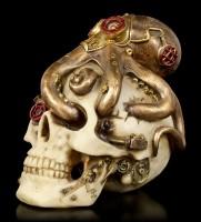 Steampunk Totenkopf mit Krake - Octo Craniotomy
