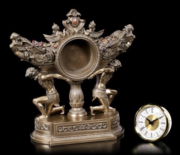 Barocke Kaminuhr mit Engeln