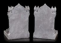 Buchstützen Set - Sitzende Gargoyles