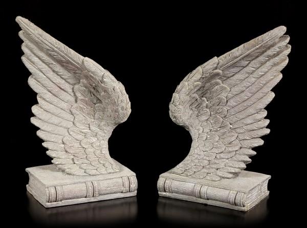 Buchstützen Set - Engel Flügel