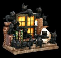 Display with 36 Figurines - Witches Cat