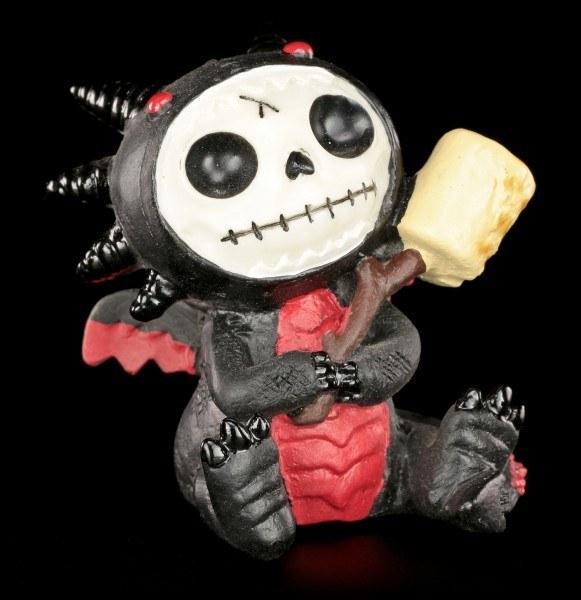 Furry Bones Figurine - Black Scorchie