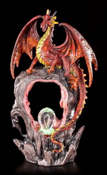 Dragon Figurine - Magma's Gateway with LED Lighting