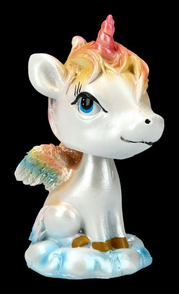 Unicorn Bobble Horn Figurine
