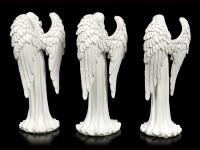 Weiße Engel Figuren - 3er Set