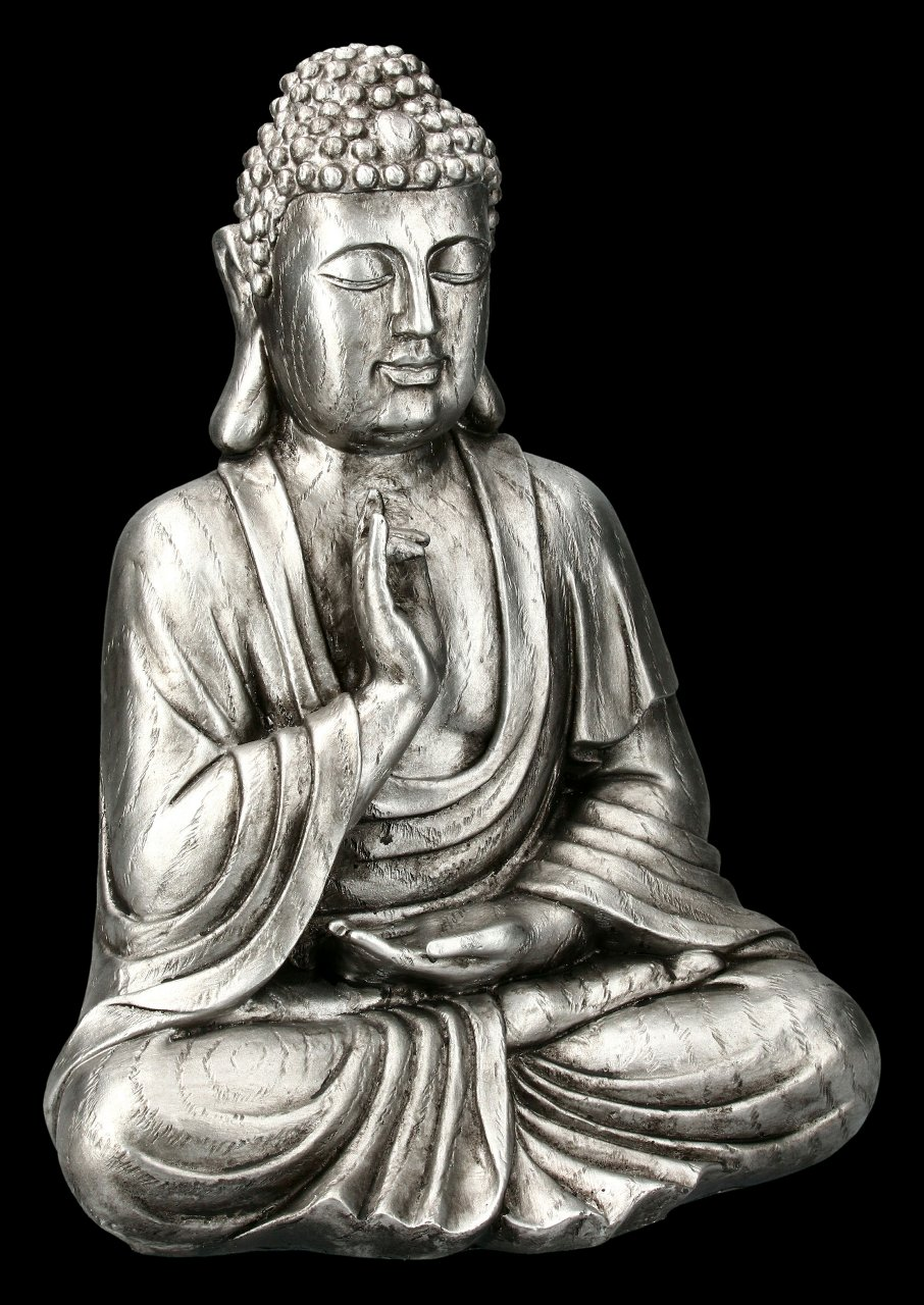Buddha Figurine - silver colored