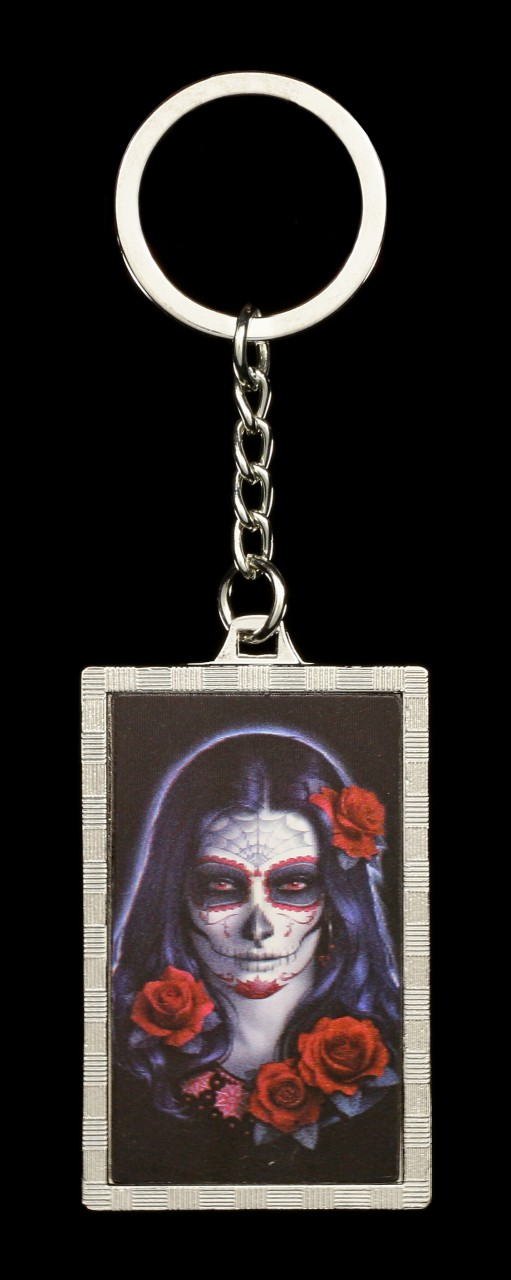 3D Keyring Day of the Dead - Sugar Skull