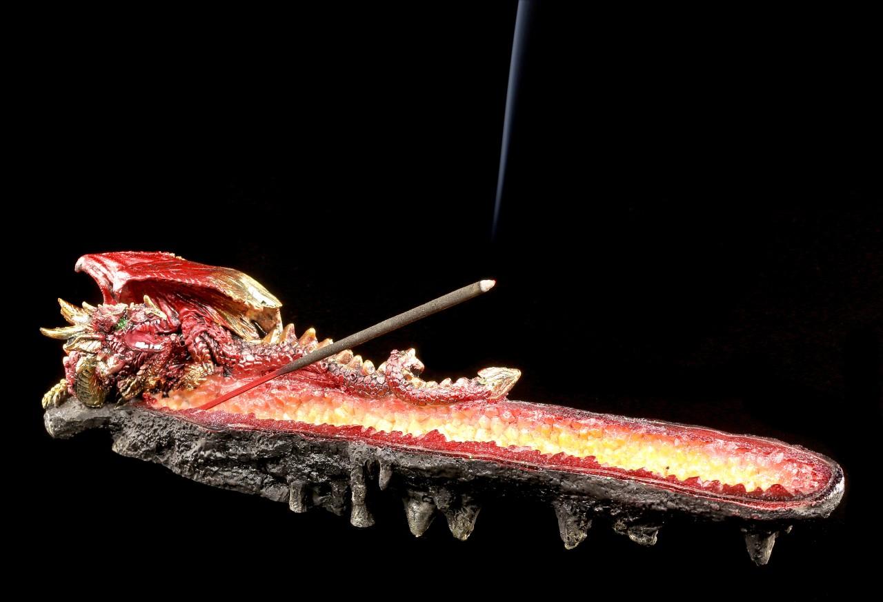 Drachen Räucherstäbchenhalter - Die Glut des Scheiterhaufens