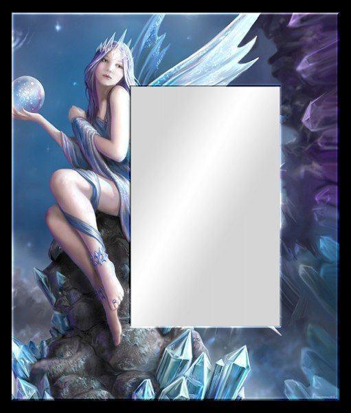 Glas Bild mit Spiegel - Stargazer