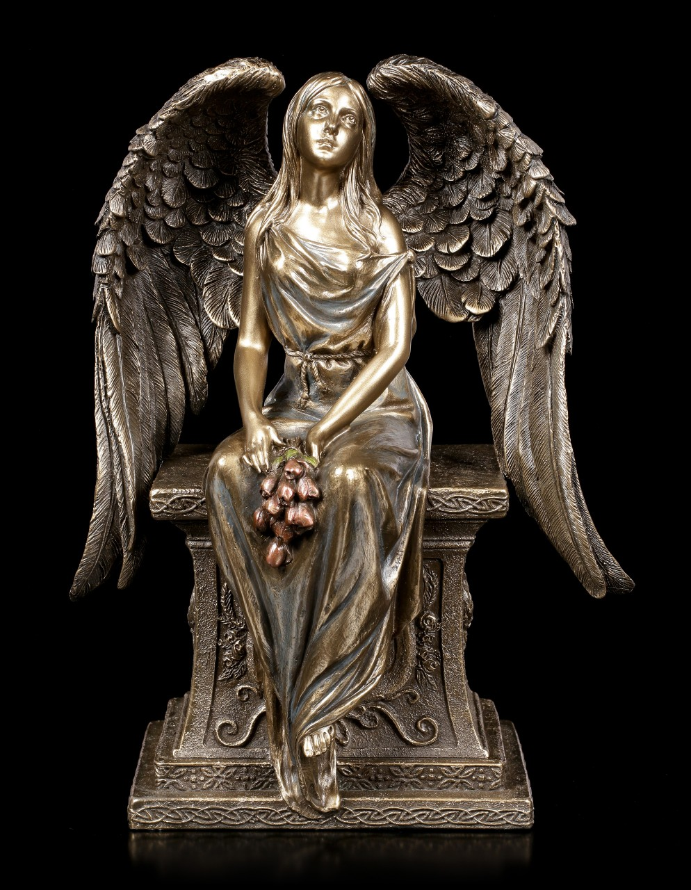 Angel with Rose on Tomb
