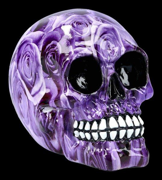 Skull with Roses - Purple Romance - medium