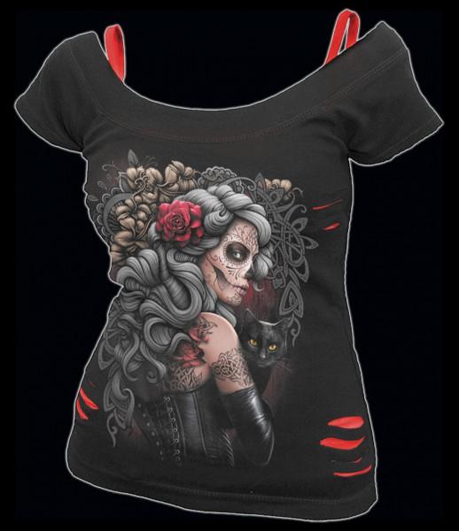 Spiral Gothic 2in1 Damen Shirt - Dead Tattoo
