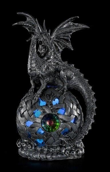 Drachen Figur Schwarz Auf Led Kugel