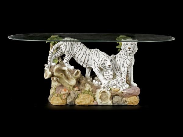 Tiger Tisch mit Glasplatte - Familienbande