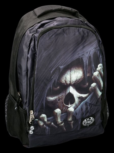 Spiral Gothic Backpack with Laptop Pocket - Grim Reaper