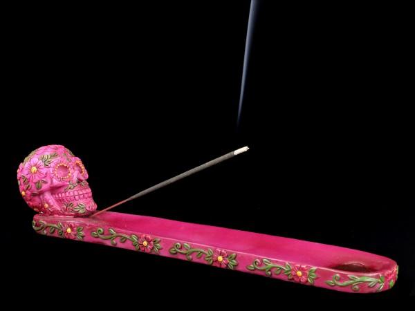 Räucherstäbchenhalter - Sugar Blossom Totenkopf