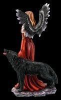 Schutzengel Figur - Vara mit Wolf