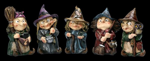Funny Witch Figurines - Set of 5
