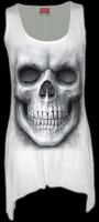 Langshirt Damen mit Totenkopf - Solemn Skull