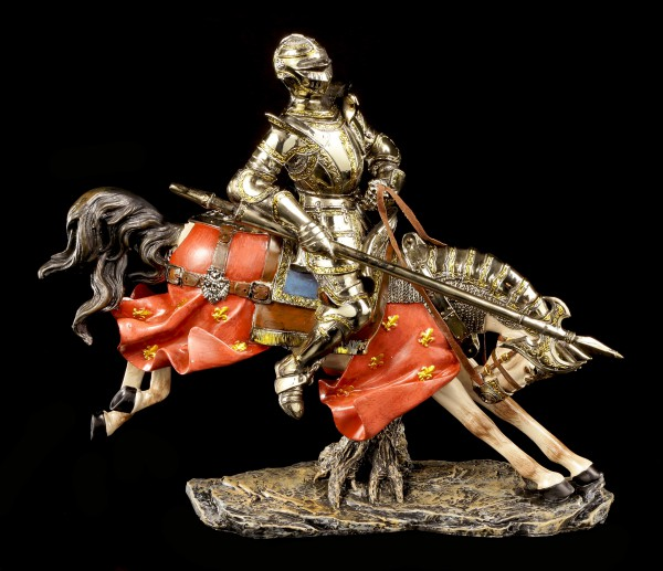 Knight Figurine with Horse and Lance