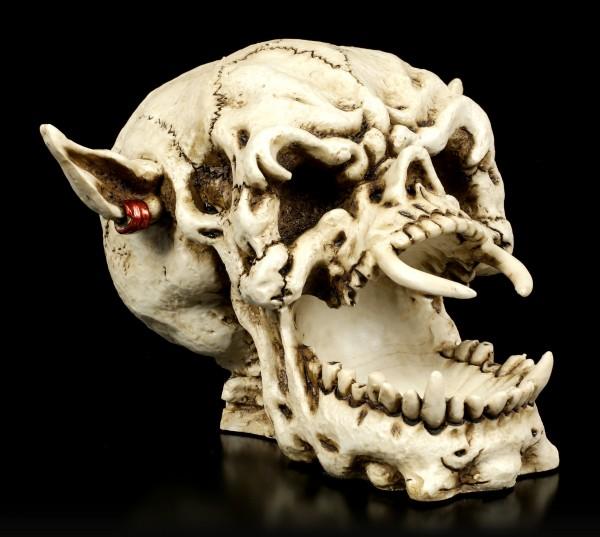 Demon Skull with Earring