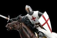 Tempelritter Figur auf Pferd mit Schwert