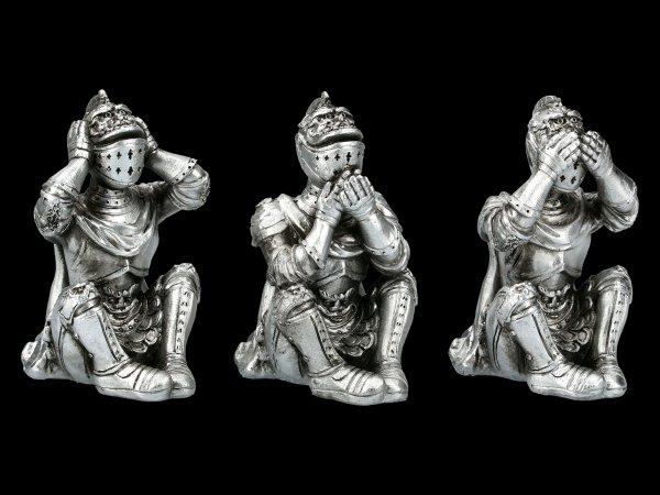Sitting Knights Figurines - No Evil