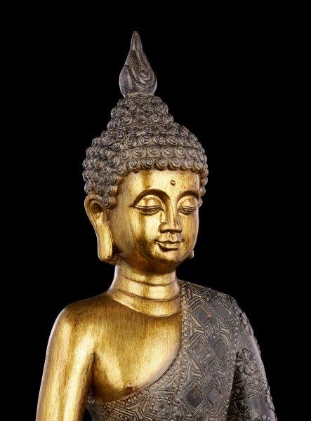 Buddha Figur - goldfarben