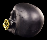 Skull with Rose - Black Rose from Dead