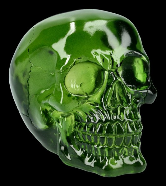 Skull - translucent green