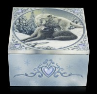 Mirror Box with Wolves - Snow Kisses
