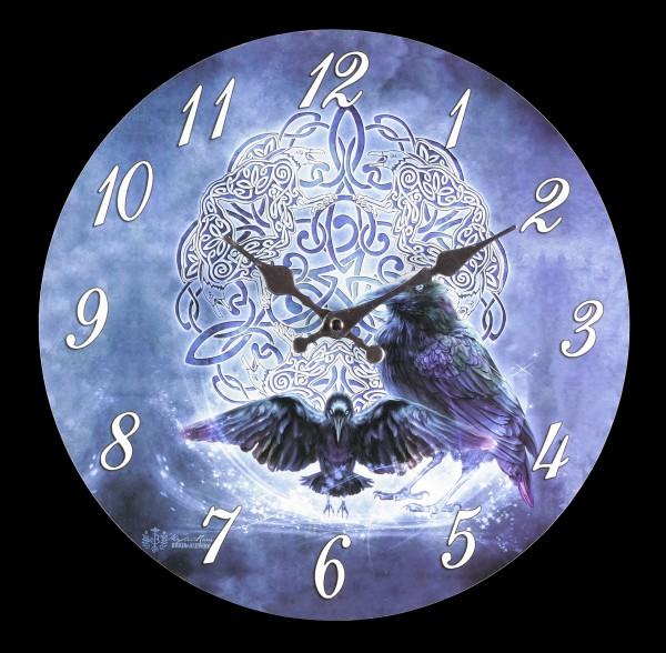 Clock - Celtic Raven