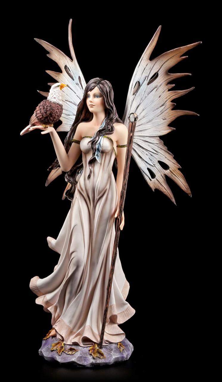 Fairy Figurine with Eagle and Magic Wand