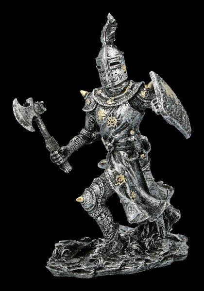Kämpfende Ritter Figur mit Streitaxt