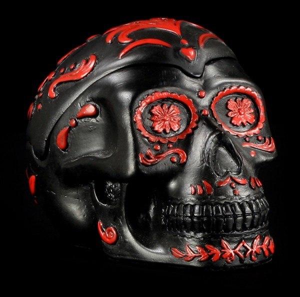 Schwarzer Totenkopf Aschenbecher - Day Of The Dead