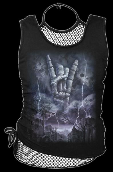 Damen 2in1 Netz Top Fantasy - Rock Eternal