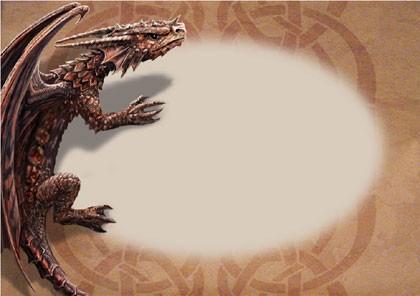 Drachen Grußkarte Fantasy - Hatchling