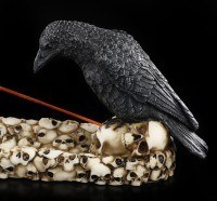 Raven and Skulls - Incense Holder