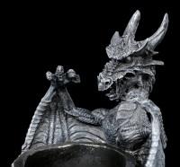 Dragon Pen Pot with Knight Helmet