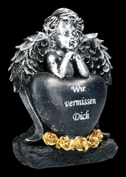 Graveyard Angel with black Heart - We miss you